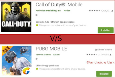 why call of duty mobile is better than pubg mobile | androidwithrk