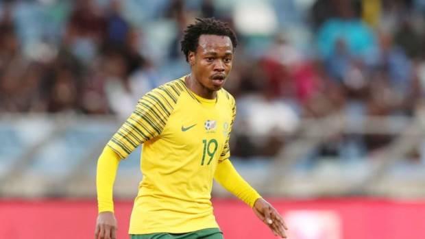 Bafana Bafana striker Percy Tau