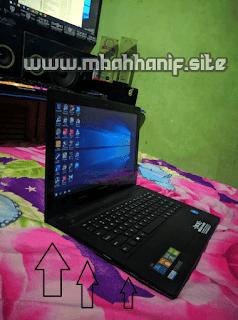 Overhead laptop