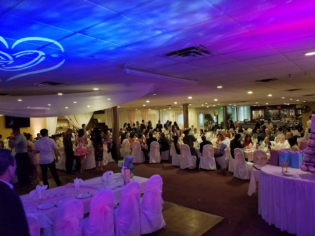 Dinner Reception Time before The Bridal Party Does Their Grand Entrance at Kingsland Chinese Restaurant Denver Colorado Wedding with Denver's Best DJs