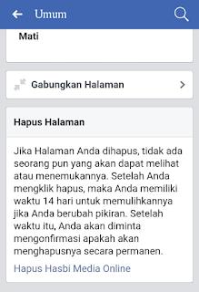 Halaman hapus halaman fp