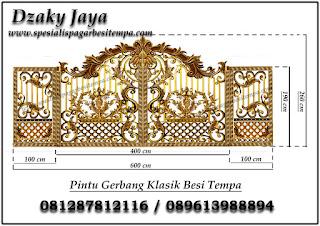 Desain Pintu Pagar Besi Tempa klasik