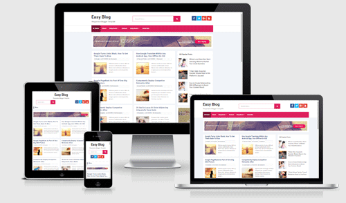 Easy Blog Responsive Blogger Template - Blog Radikal