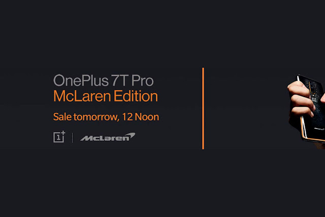 OnePlus 7T Pro McLaren Edition sale on Amazon today, these offers will be available