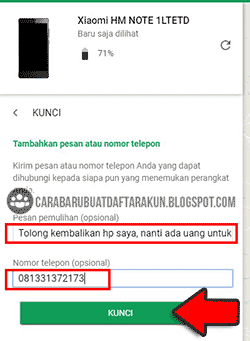 cara melacak hp android yang hilang lewat akun google