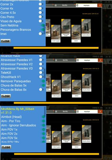 setting mod menu ff