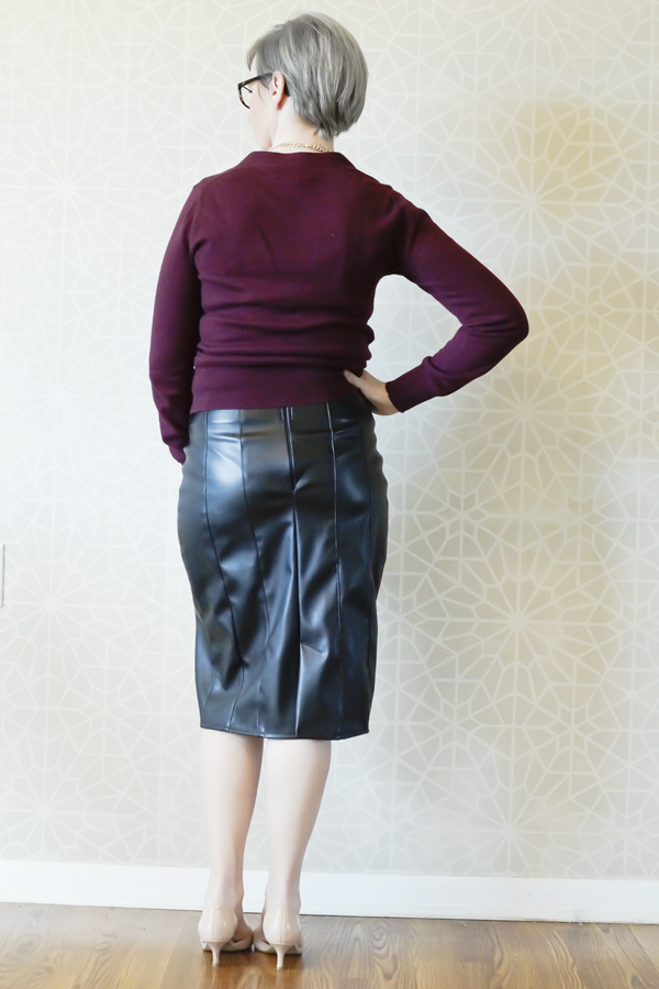 Tangible Artiste Free Leather Pencil Skirt Pattern