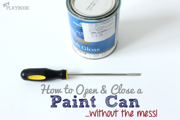 How to open a paint can