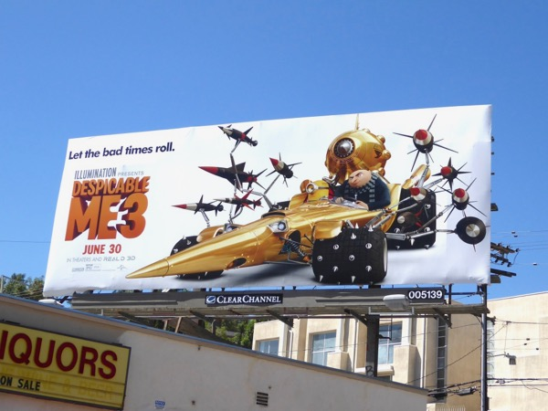Despicable Me 3 Gru billboard