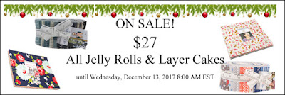 ON SALE: $27 All Jelly Rolls & Layer Cakes