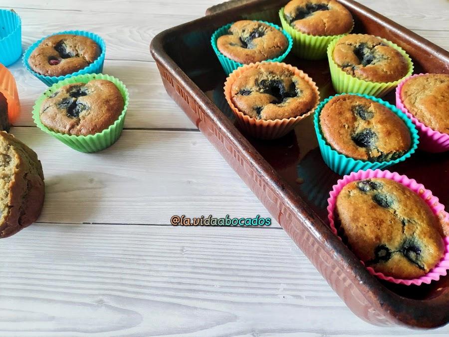 muffins arandanos