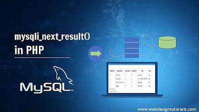 PHP mysqli_next_result() Function