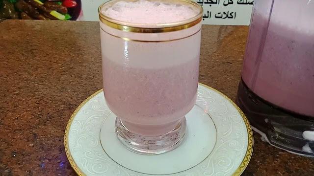 طريقة عمل عصير زبادي بالفراولة الخطير الشيف محمد الدخميسي