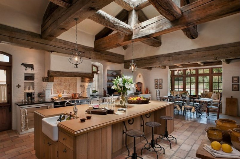 Create a classic french rustic country style kitchen for Rustic chic kitchen ideas