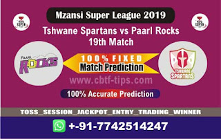 Who will win Today MSL T20 2019, 19th Match Paarl vs Spartans - Cricfrog