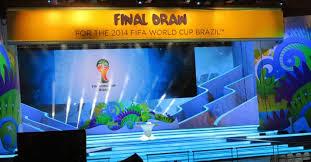 A foto mostra o palco onde ocorrerá o sorteio dos grupos da copa do mundo de 2014 no Brasil. Evento realizada na Costa do Sauípe no litoral da Bahia.