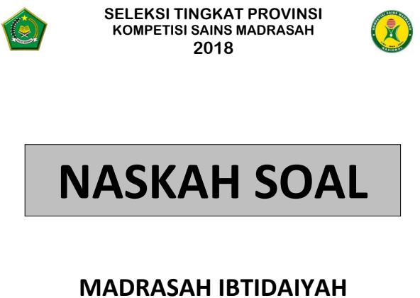 soal asli ksm mi 2019 tingkat provinsi