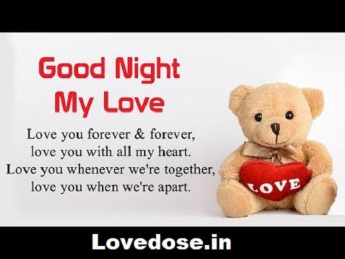 Good night my sweetheart love You