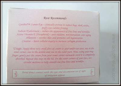 English Rose Cosmetics Bright Eyed & Bushy Tailed Eye Cream