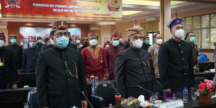 DPRD Lamsel Gelar Paripurna Dengarkan Pidato Gubernur Lampung