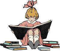 Image of Girl Reading Print Book