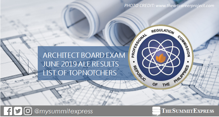 RESULT: June 2019 Architect board exam top 10 passers