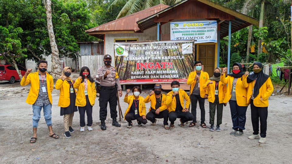 Bhabinkamtibmas Polsek Kahayan Tengah Sosialisasikan Pencegahan Karutla Kepada Mahasiswa