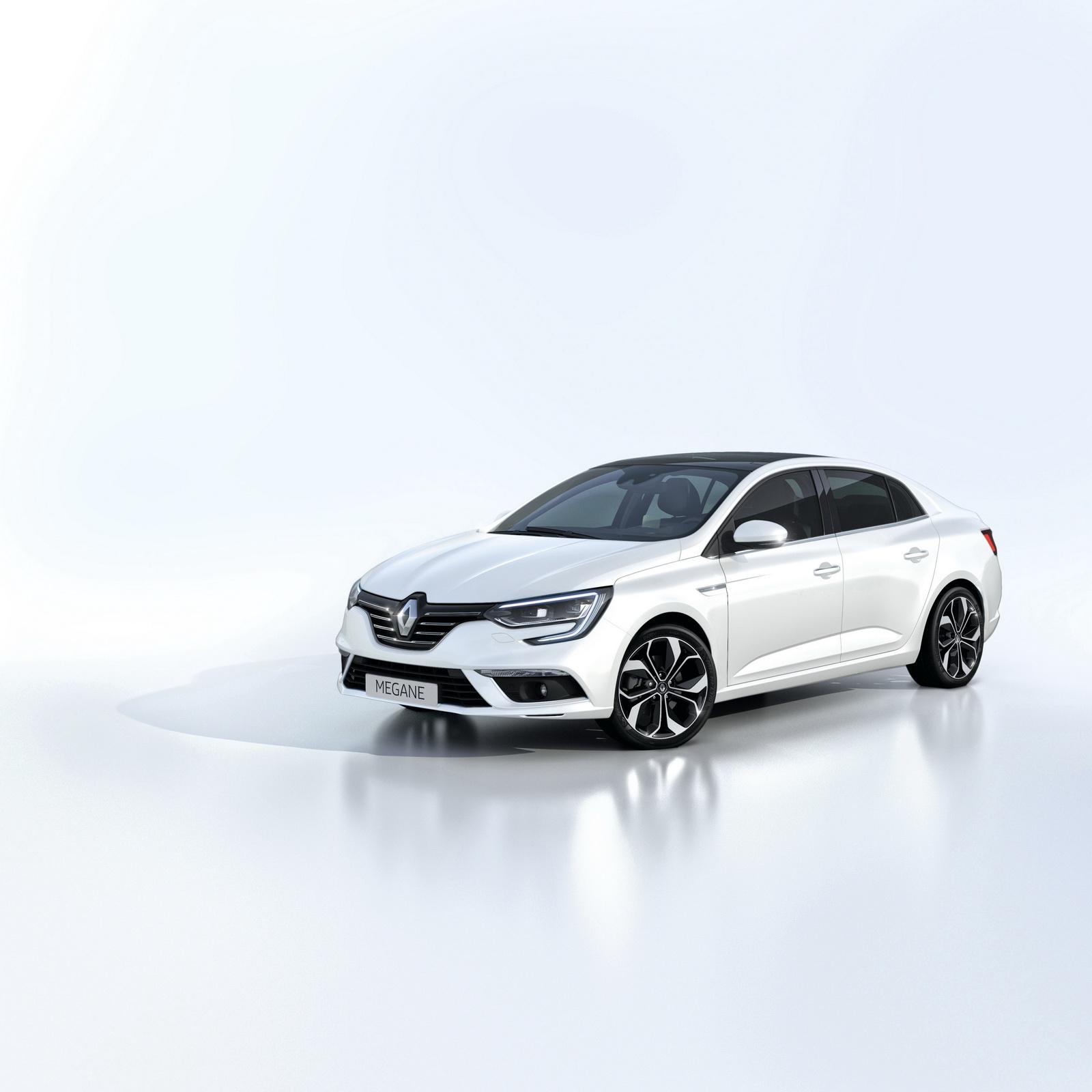 new renault megane sedan joins the range carscoops. Black Bedroom Furniture Sets. Home Design Ideas