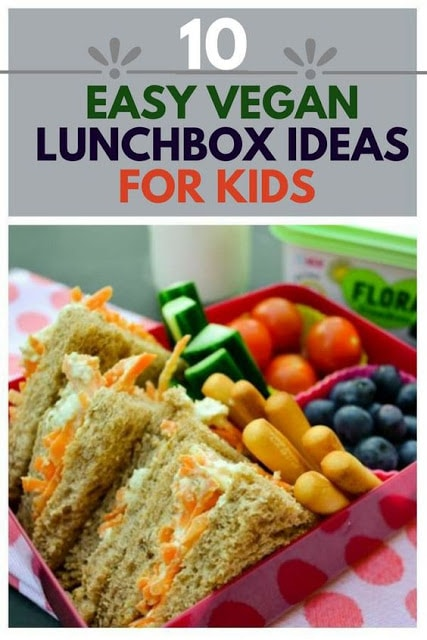 Struggling to get your kids to eat their school dinners, stuck for ideas for packed lunch? Check out 10 helpful lunchbox tips for vegan kids. #vegankids #veganlunchbox #veganlunch #lunchbox #veganlunchideas #backtoschool #schoollunch #schooldinner #vegan #kidslunch
