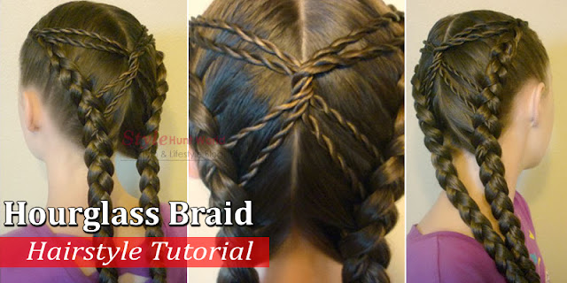 How To Create Hourglass Braid Hairstyle, See Step By Step Tutorial