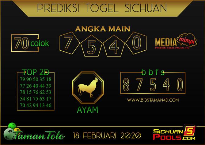 Prediksi Togel SICHUAN TAMAN TOTO 18 FEBRUARY 2020