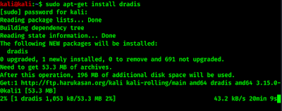 installing dradis in Kali Linux