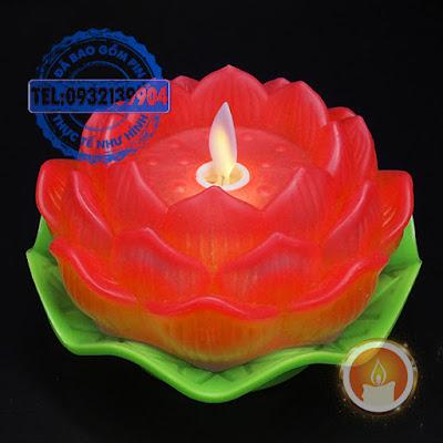 Đèn nến hoa sen điện tử tim đèn dao động