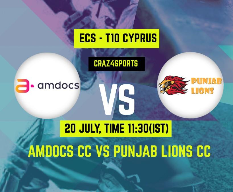 AMD VS PNL Dream11 prediction | Amdocs CC Vs Punjab Lions CC, Dream11 ECS T10 Cyprus, Top picks, Players stats, Pitch Report, Dream Team