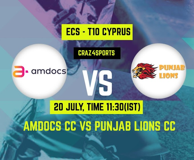 AMD VS PNL Dream11 prediction | Amdocs CC Vs Punjab Lions CC, Dream11 ECS T10 Cyprus, Top picks, Players stats, Pitch Report, Dream Team