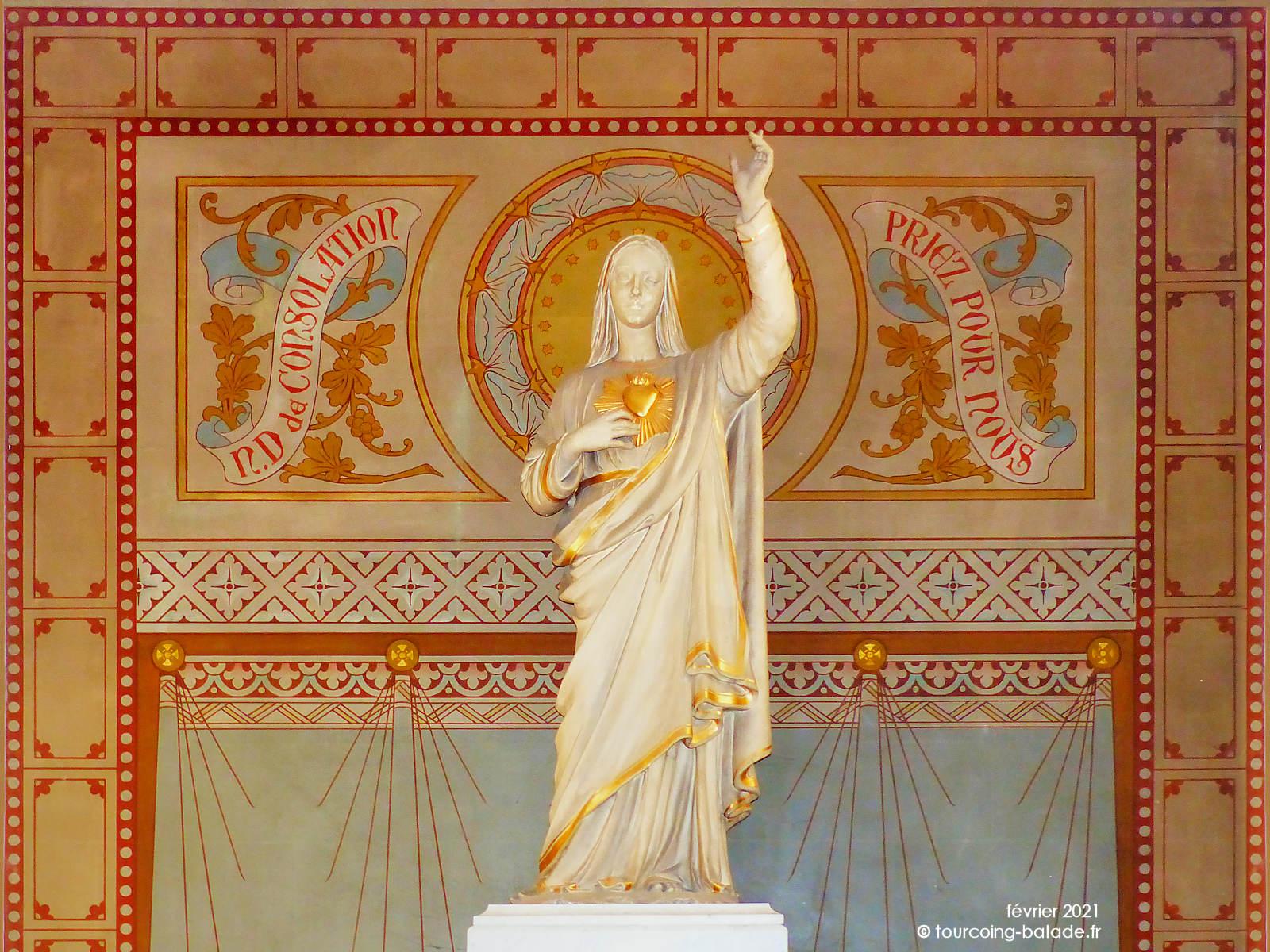 Statue Notre-Dame de Consolation, Tourcoing 2021