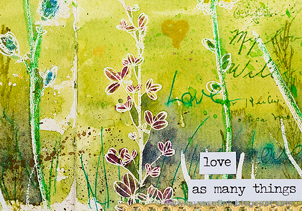 Layers of ink - Shimmery Watercolor Art Journal Tutorial by Anna-Karin Evaldsson