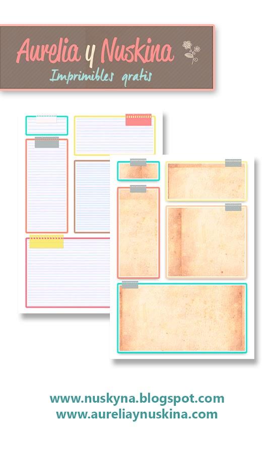 Imprimibles gratis para organización.Plantillas para planificadores