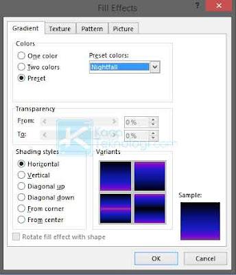 Cara mengubah warna kertas, background / latar belakang menjadi gambar, texture, pattern, dan gradient di Microsoft Word versi 2007, 2010, 2013, 2016 dan 2020.