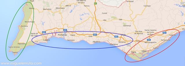 Mapa-playas-Algarve