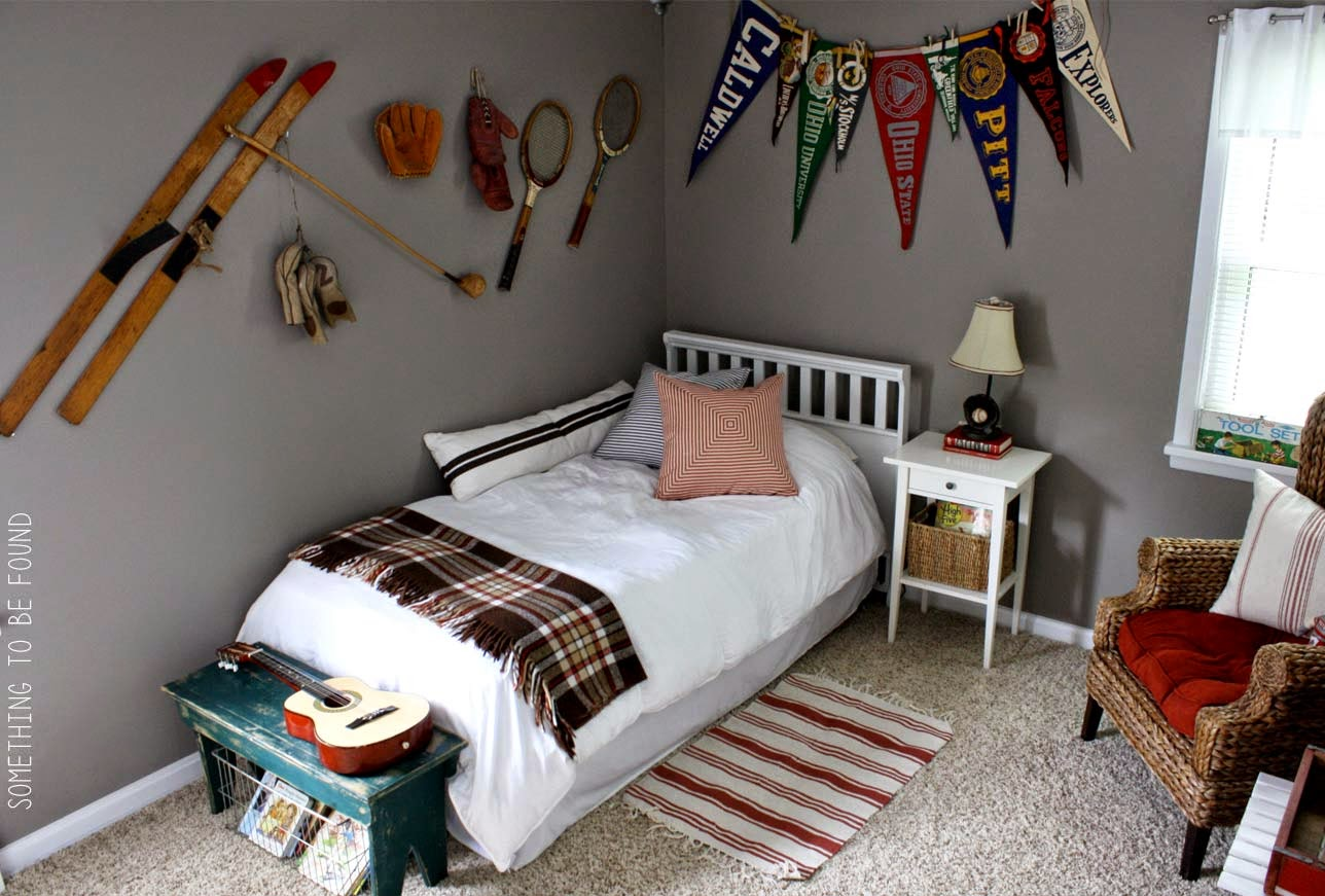 Something To Be Found This Vintage Sports Bedroom Is