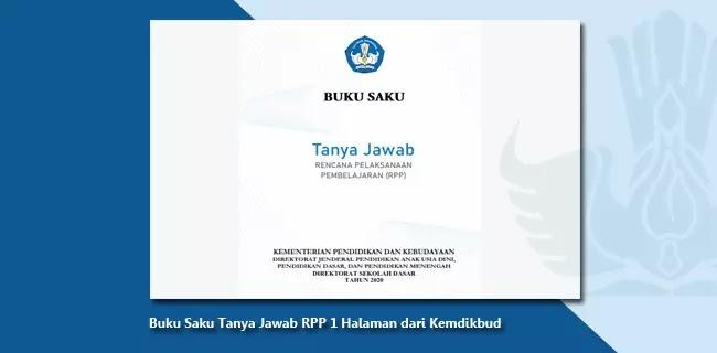 Buku Saku Tanya Jawab RPP 1 Halaman dari Kemdikbud