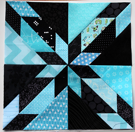 Hunters Star Block Designed by Cath Hall of Wombat Quilts, The Pattern by Quilters Cache