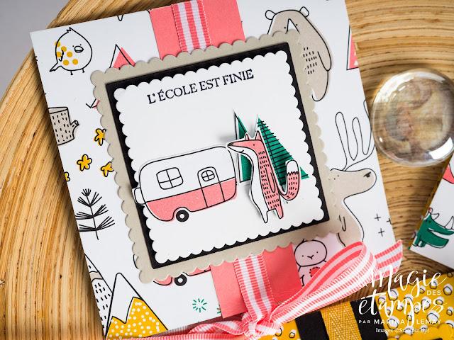 Porte chocolat Stampin' Up! fait avec le papier Design Motifs au choix