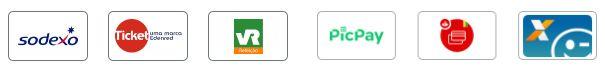 Aceite as principais bandeiras de cartões