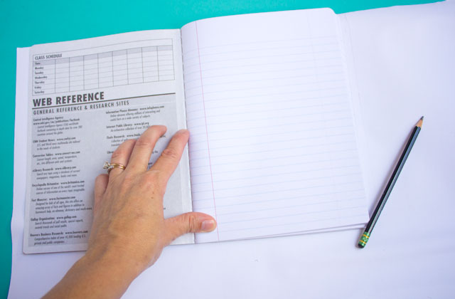 DIY Pom Pom Trim Notebooks Design Improvised