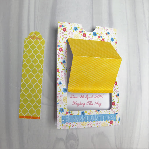 Pop up slider card assembly stage 4.  Tutorial by Nadine Muir for Silhouette UK Blog