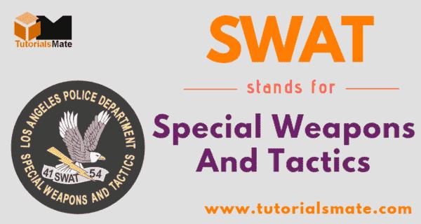 SWAT Full Form