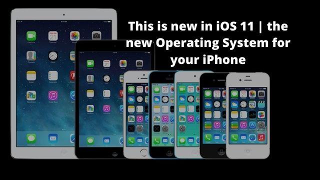 new in iOS 11 iPhone