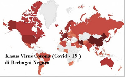 Kasus virus corona (Covid-19) di berbagai negara